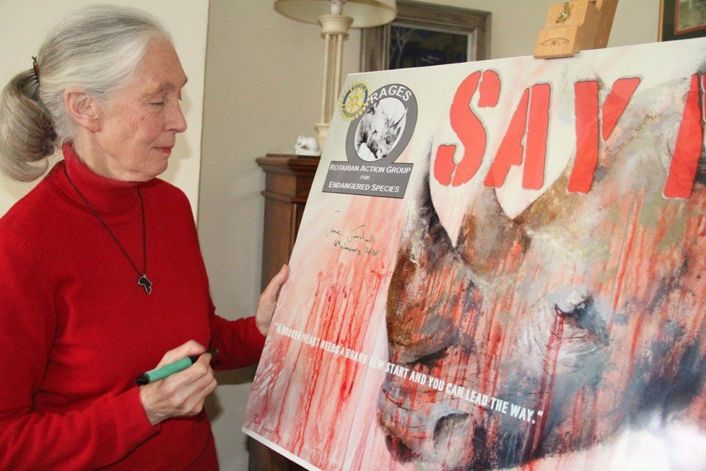 jane goodall signing email