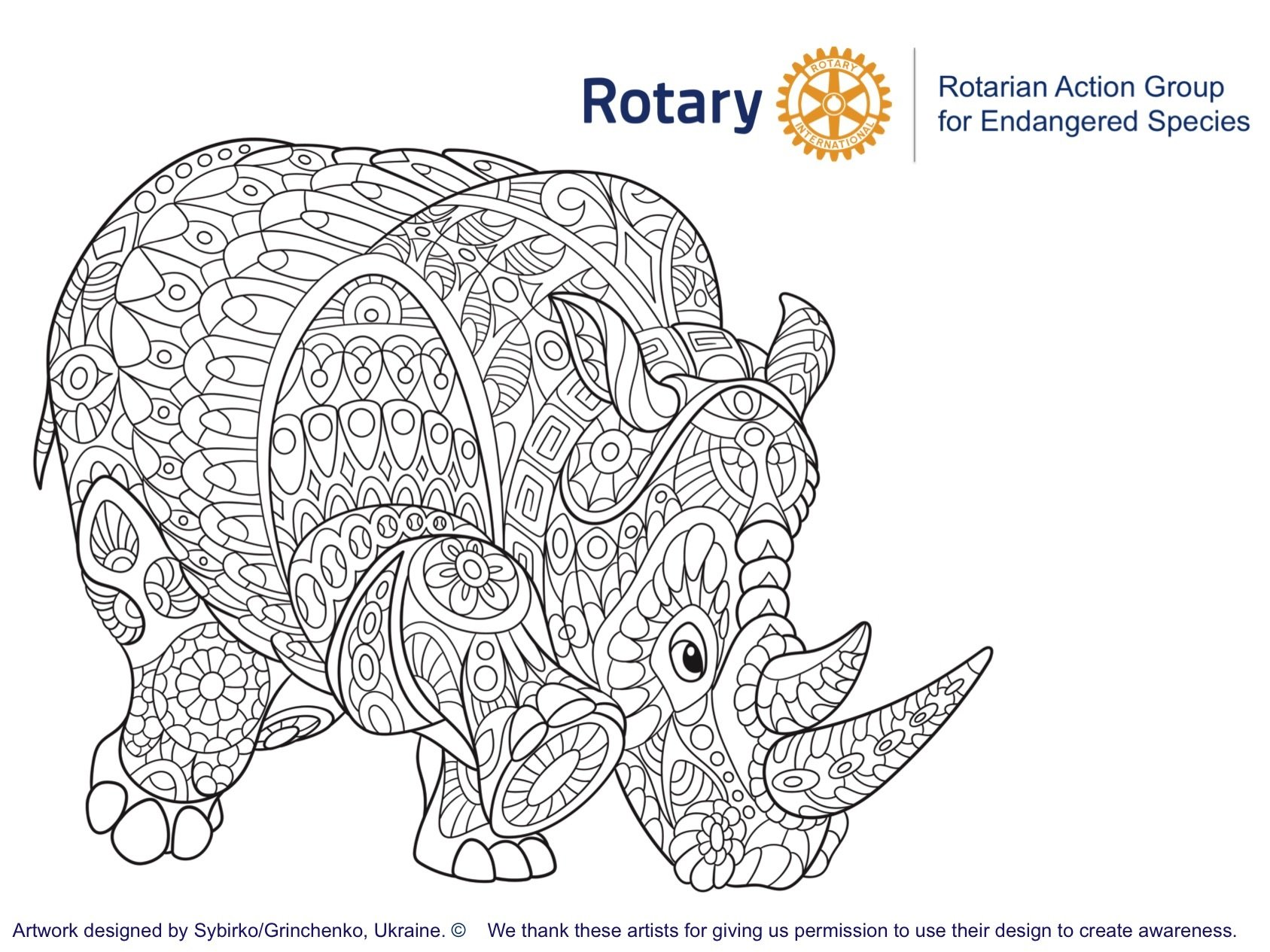 Endangered species a rotary action group for Endangered species coloring pages